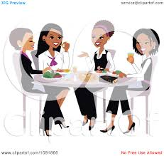 4 women eating